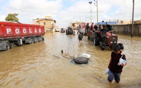 وضعیت سیلاب در آققلا و گمیشان