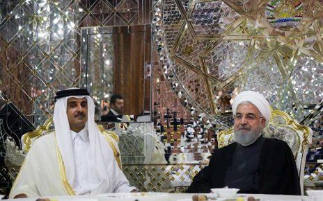 دیدار شیخ تمیم و روحانی