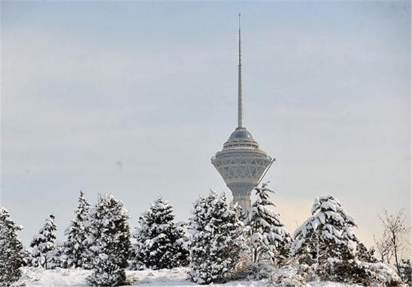 برف پاییزی در تهران