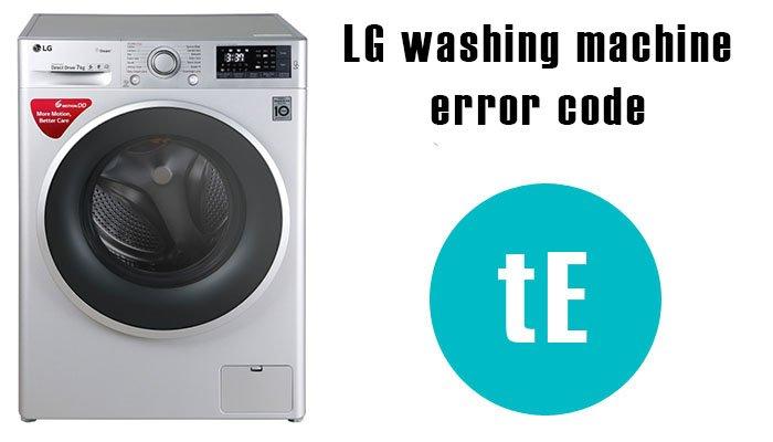 ارورهای ماشین لباسشویی ال جی