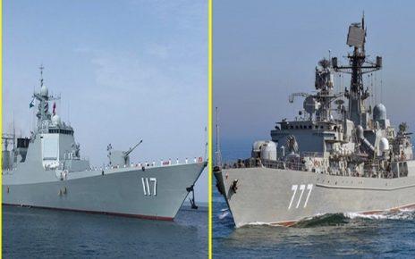 رزمایش مشترک ایران چین و روسیه