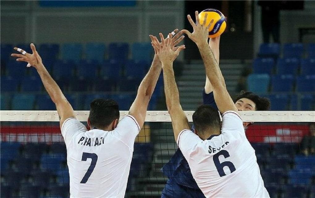 پیروزی والیبال ایران مقابل کره جنوبی