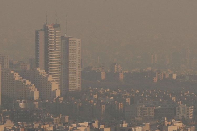 کیفیت هوای تهران 25 دی
