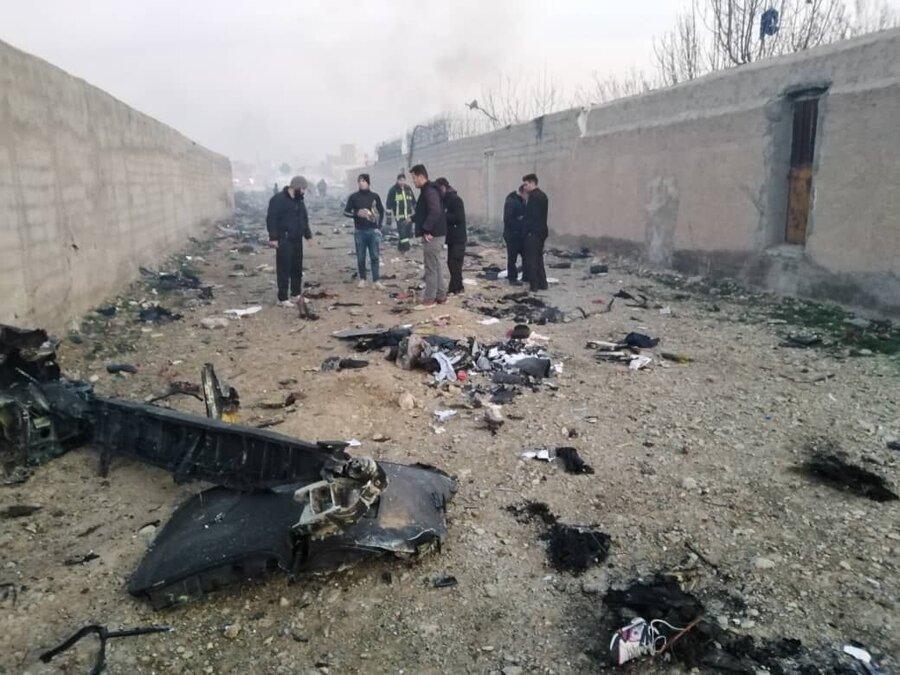 سقوط هواپیمای اوکراینی در نزدیکی فرودگاه امام   تمام ۱۷۶ مسافر و خدمه جان باختند