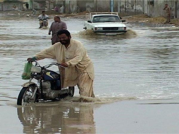 سیلاب شدید در جنوب استان سیستان