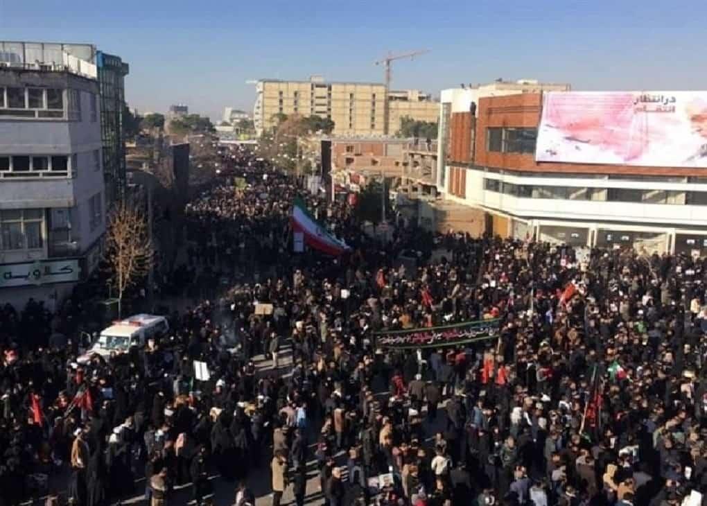 مراسم تشییع شهدا در کرمان