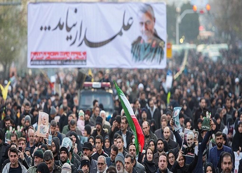 تشییع شهید سلیمانی در تهران