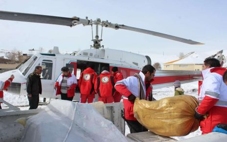 امدادرسانی هوایی به روستاهای خلخال