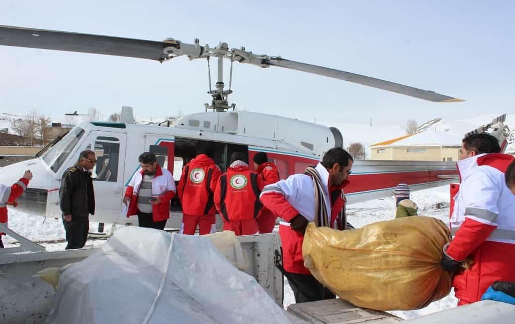 آغاز امدادرسانی هوایی به روستاهای خلخال