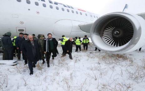 خروج هواپیمای کرمانشاه - تهران از باند
