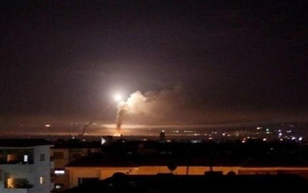 مقابله پدافندی سوریه با حملات هوایی رژیم صهیونیستی در حلب