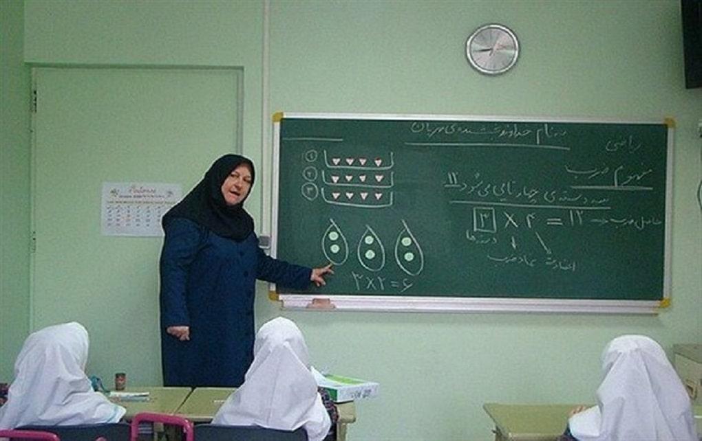 وضعیت ساعت کاری معلمان در طول فعالیت یک ماهه مدارس