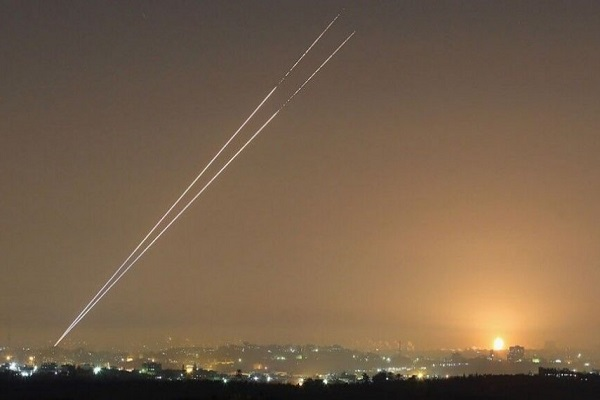 شلیک دو راکت از نوار غزه