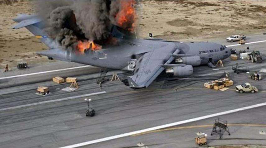 سقوط یک فروند هواپیما سی ۱۳۰ آمریکایی در پایگاه التاجی عراق
