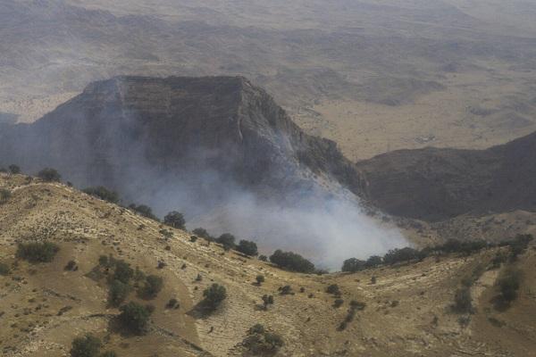 مهار آتش سوزی جنگل خائیز