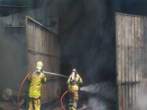 آتش سوزی شهرک صنعتی جاجرود