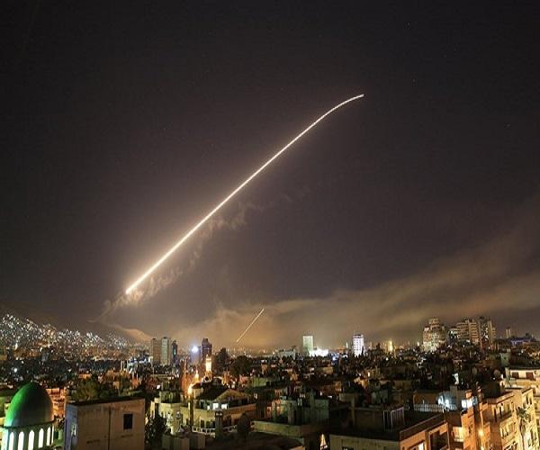 مقابله پدافند سوریه با اهداف متخاصم