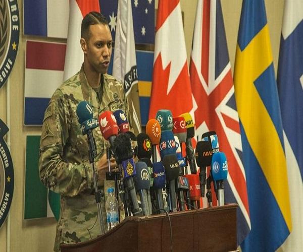 فرار سخنگوی ائتلاف آمریکایی هنگام اصابت راکت به منطقه سبز بغداد