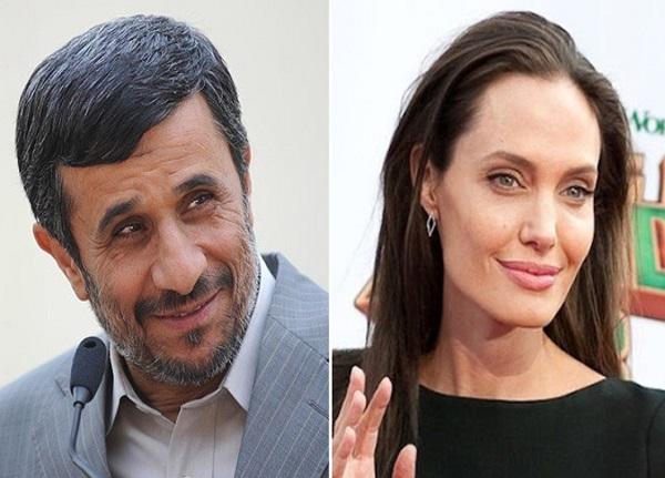 توییت احمدی نژاد برای آنجلینا جولی