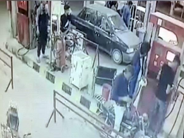 انفجار پمپ بنزین تاکستان