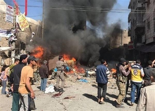 انفجار خودروی بمب گذاری شده سوریه