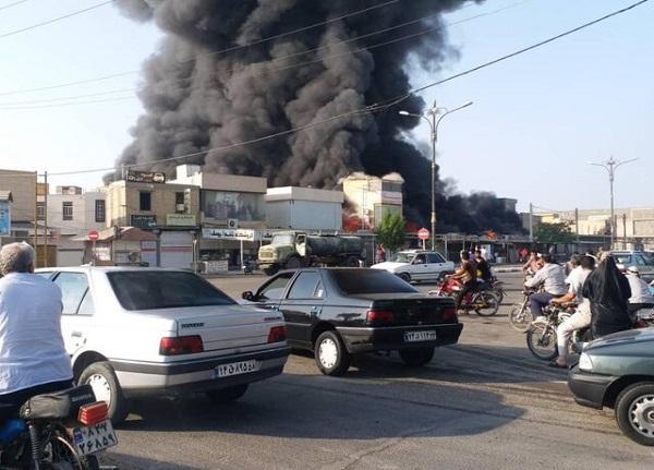 آتش سوزی در بازارچه دیلم | ۲۰۰ غرفه در آتش سوخت + فیلم