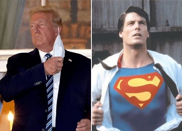 لباس سوپر من ترامپ