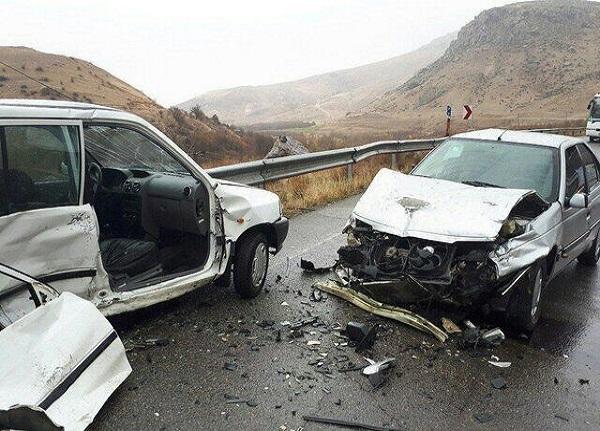 تصادف زنجیرهای آزادراه زنجان قزوین