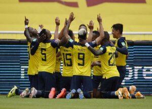شکست تیم کلمبیا مقابل اکوادور
