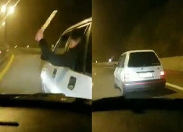 حمله دو خودروی راهزن در اتوبان تهران – شمال + ویدیو