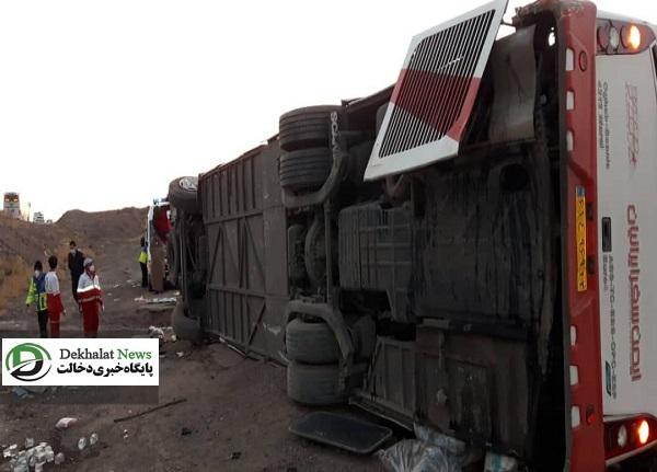 واژگونی اتوبوس میامی سبزوار