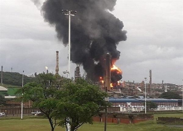 انفجار در پالایشگاه نفت آفریقای جنوبی