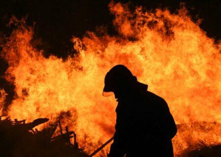 آتشسوزی یک شعبه بانک صادرات در زاهدان + فیلم