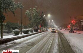 تصاویر  بارش برف در شهرستان گرمی (مغان) استان اردبیل
