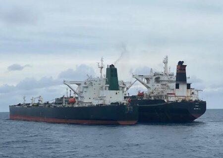 توقیف نفتکش ایرانی در آب های ساحلی اندونزی + فیلم