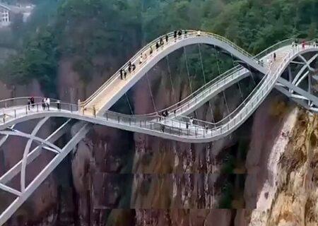 پل چند طبقه دیدنی در شنژیانجو کشور چین