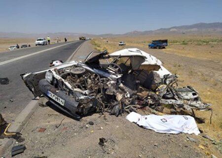 تصادف مرگبار پراید با ساینا در کرمان؛ جان باختن ۵ نفر در آتش سوخت قاچاق