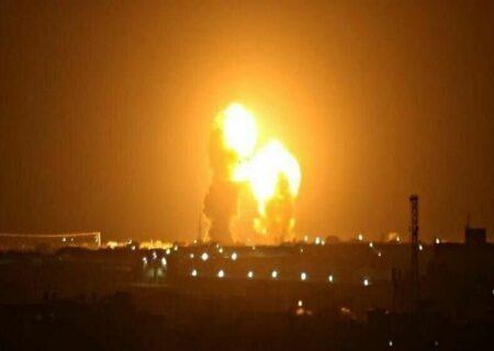 حمله موشکی ایران به پایگاه عین الاسد از نگاه دوربین دید در شب
