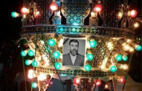 مراسم تشییع و خاکسپاری پیکر علی انصاریان در بهشت زهرای تهران