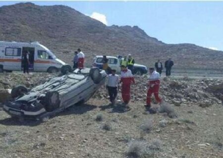 واژگونی خودروی حامل اتباع خارجی ۱۱ کشته و زخمی بر جا گذاشت