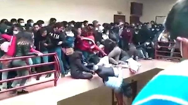 سقوط دانشجویان از طبقه چهارم