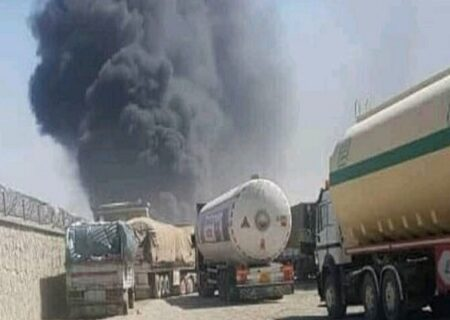 آتش سوزی در گمرک مرزی ایران و افغانستان