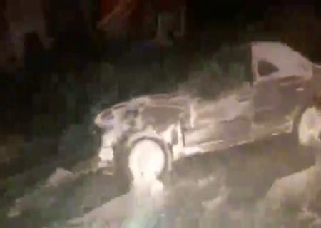 تصادف زنجیره ای محور تاکستان ابهر در محدوده ضیاء آباد + ویدیو