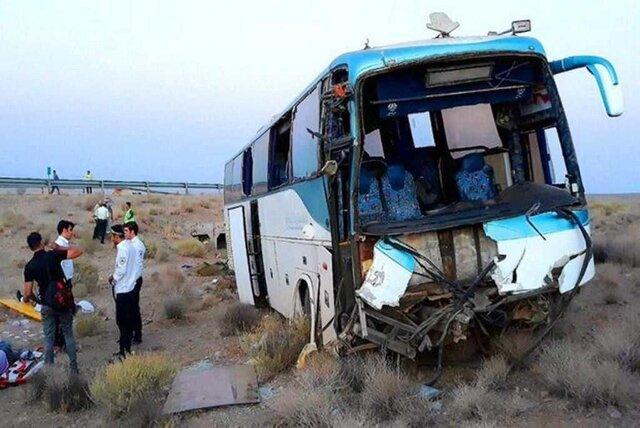 تصادف اتوبوس با کامیون رودان