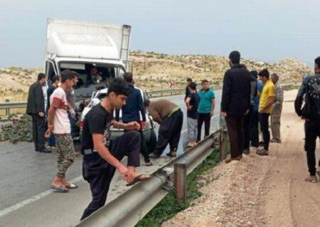 ۵ کشته و یک مصدوم در تصادف پراید و ایسوزو در خوزستان + عکس