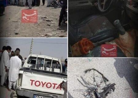 حادثه کور تروریستی در سراوان