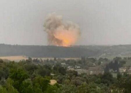 انفجار موشک در نزدیکی تأسیسات هسته ای «دیمونا» در فلسطین اشغالی