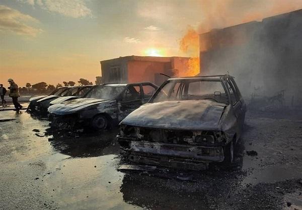 آتش زدن 4 خودرو در دیباجی