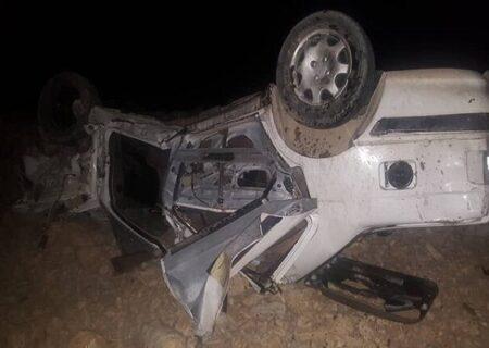 ۱۴ کشته و زخمی در حادثه واژگونی پژو ۴۰۵ در محور یزد_رفسنجان