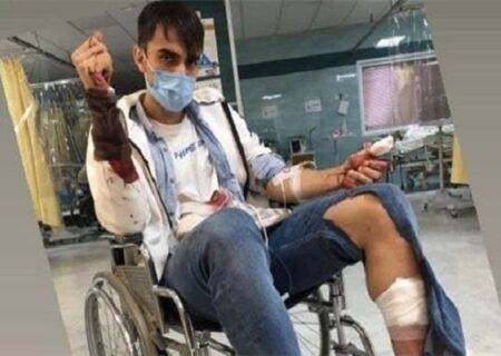حمله وحشیانه سارقین به سینا زامهران ، هافبک جدید تیم پدیده + عکس